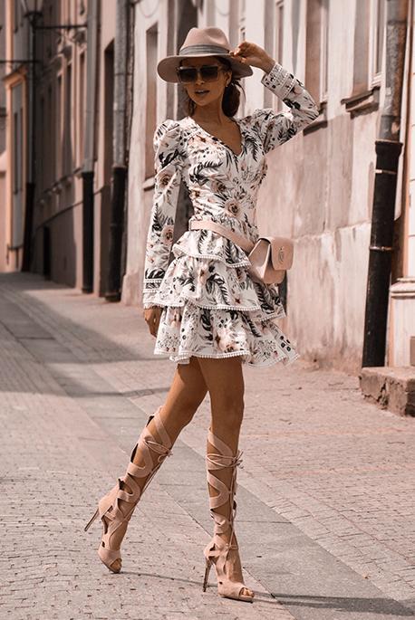 Sisi Biala Sukienka W Kwiaty Floral High Low Dress Dresses Casual Dress