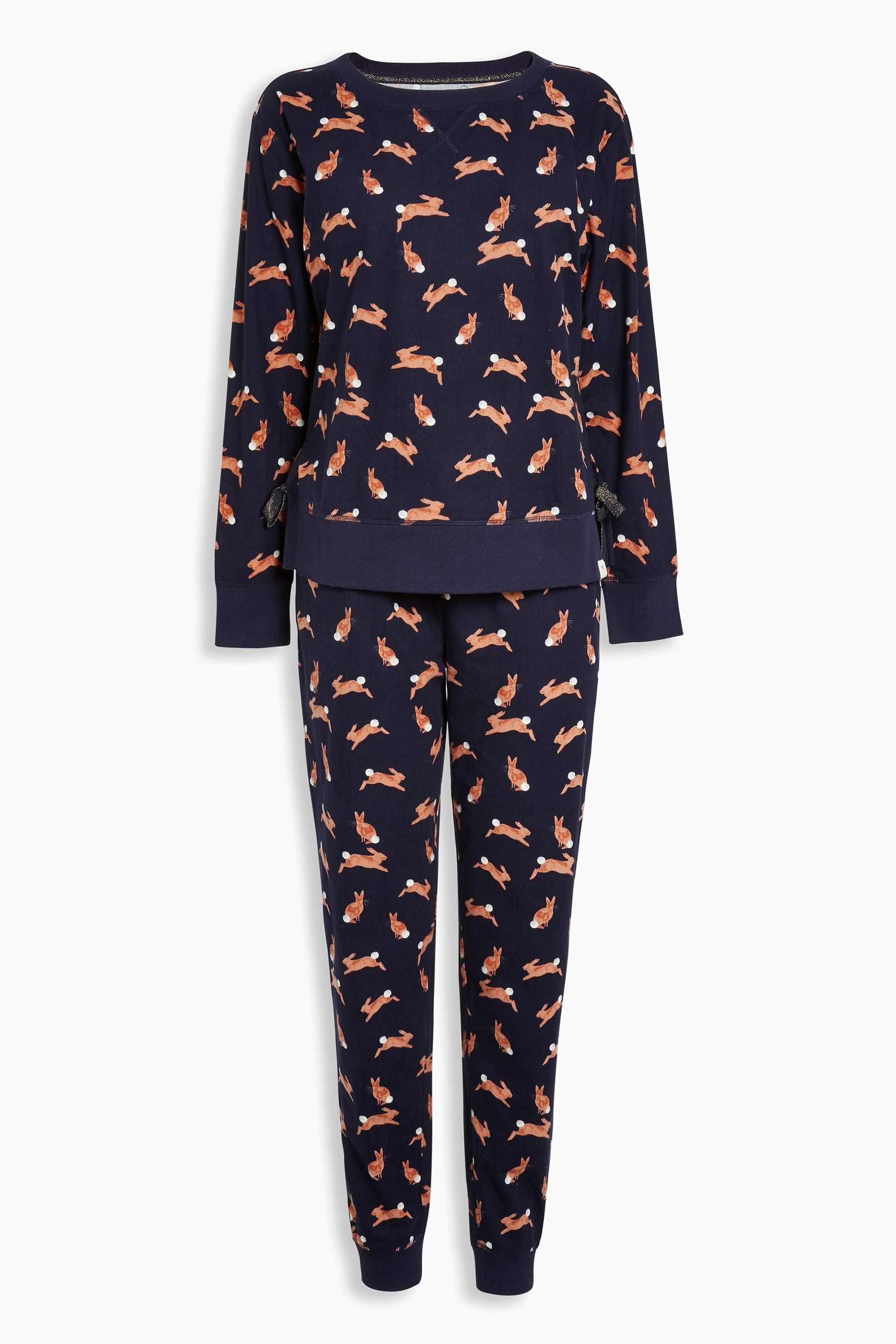 ab6a550bb1 Buy Navy Bunny Print Cosy Pyjamas from the Next UK online shop ...