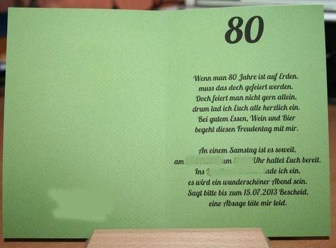 Einladungskarten 80 Geburtstag Ohne Foto Einladung Zum Geburtstag