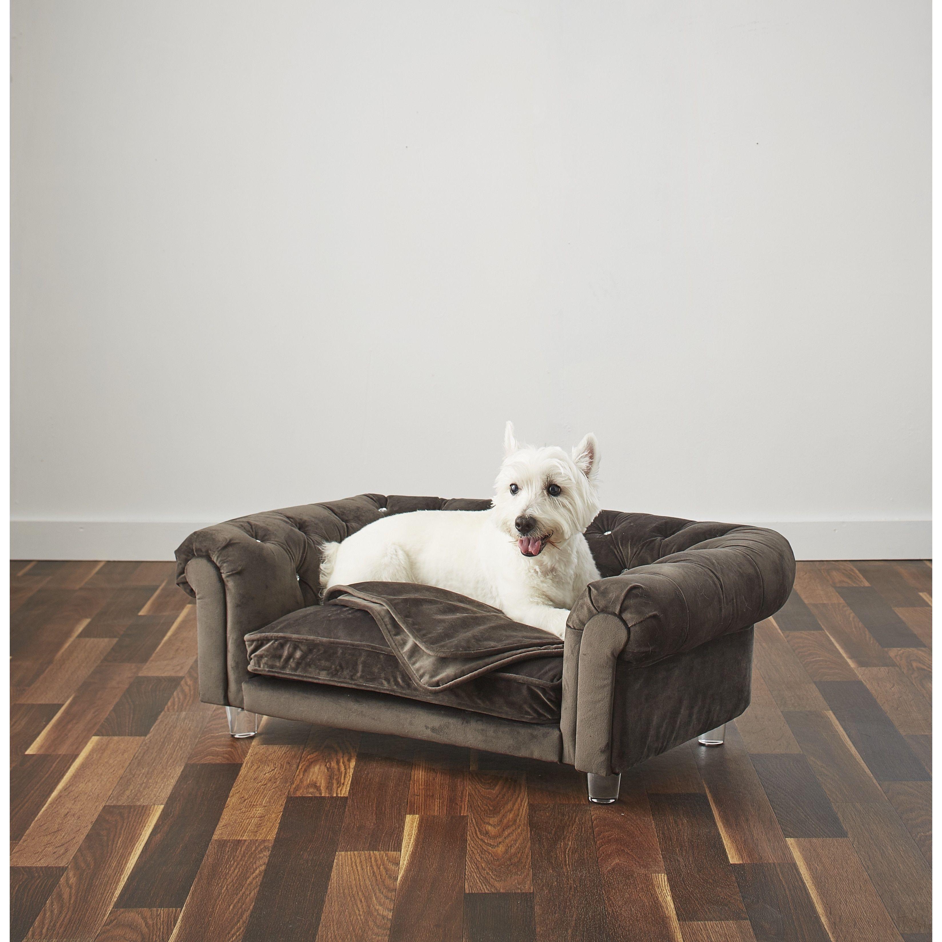 Enchanted Home Velvet Tufted Pet Sofa
