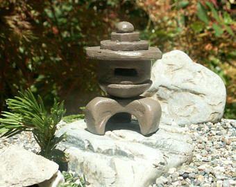 Maison De Poupee Miniature Japonais Jardin Lanterne Japonaise Ornements Echelle 1 12 Fairy Garden Jardin Zen Miniature Acces Miniatures Pour Maison De Poupee