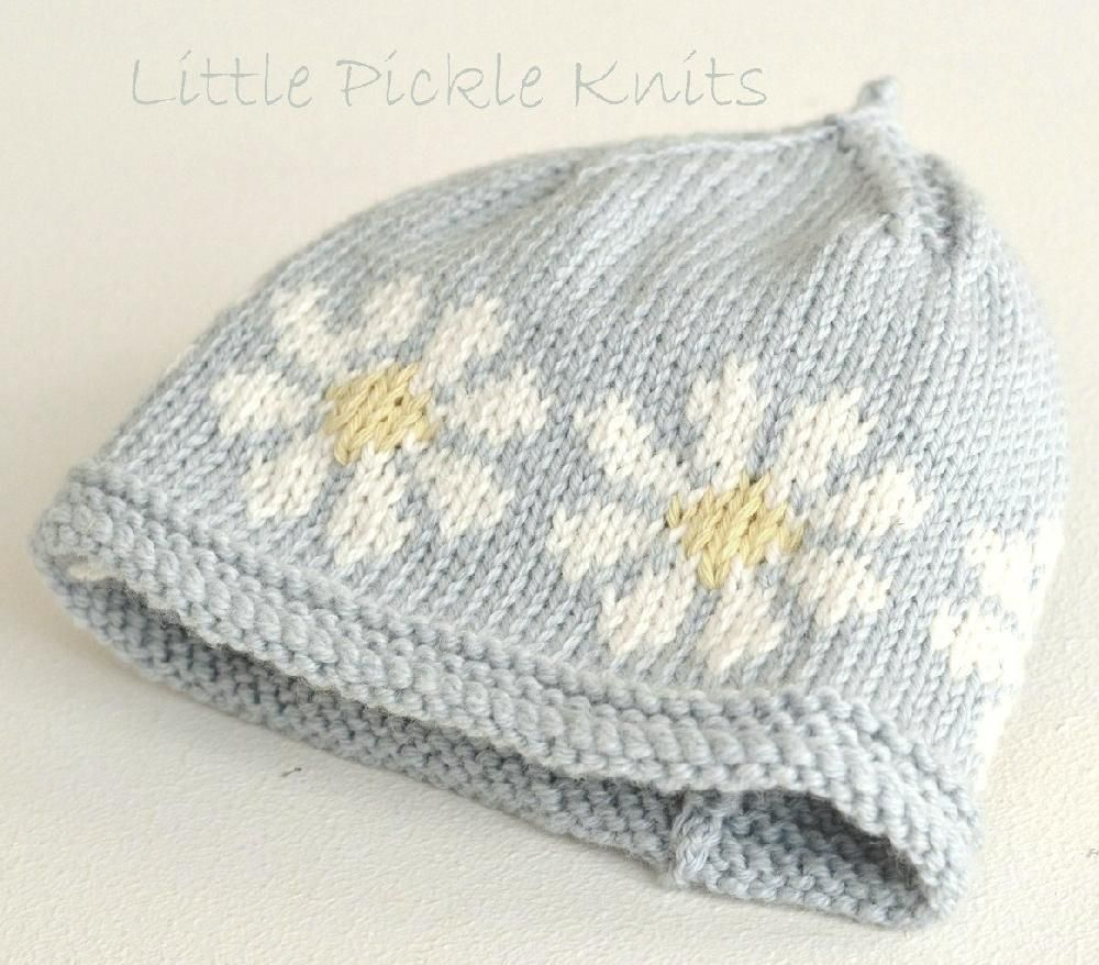 Baby beanie \'Little Daisy Flower\' | Daisy flowers, Flower pictures ...