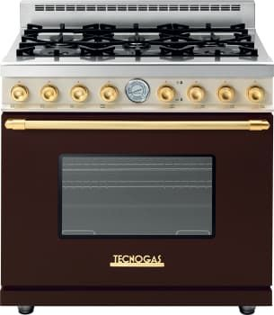 Tecnogas Superiore Deco Series Rd361gcmcg Brown Gas Range With Gold Accents And Cream Control Panel Gas Range Gas Oven Deco