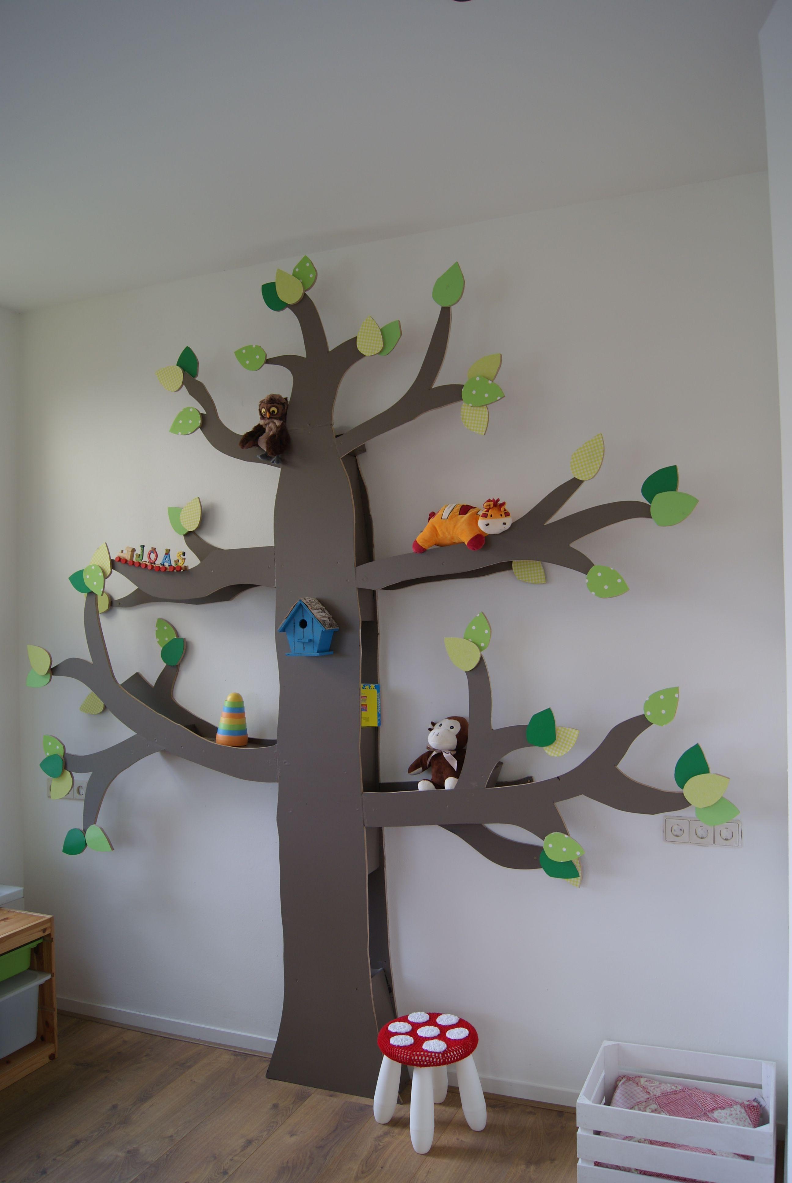 maak zelf een boekenkast boom! leuk voor in de kinderkamer, Deco ideeën