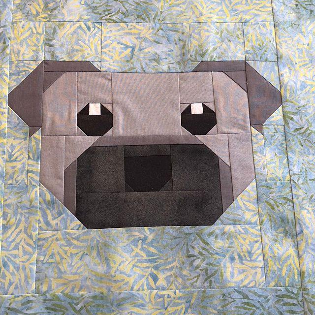 Great Dane Dog Puppy Quilt Block PDF pattern Includes