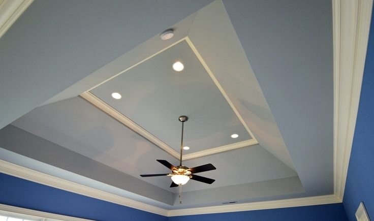 How To Trim Angled Tray Ceiling Google Search Dining