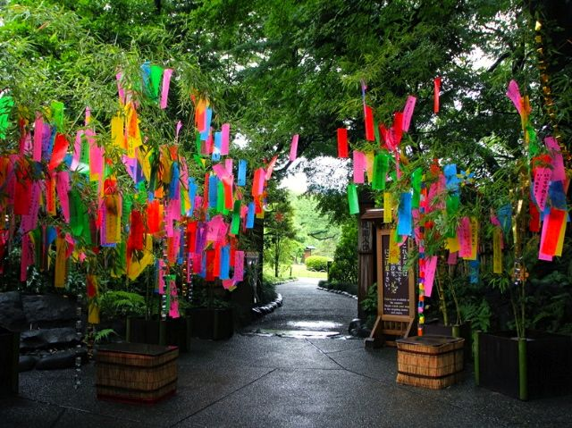 Tanabata 七夕 Meaning Evening Of The Seventh Is A Japanese Star Festival It Celebrates The Meeting Of The Deities Orihime And Hikoboshi Represente Decoratie