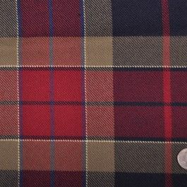 This a large scale, medium weight, soft, wool plaid twill.