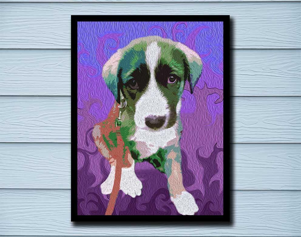 Pet Portrait, Puppy print, custom pet portrait, custom pet print ...