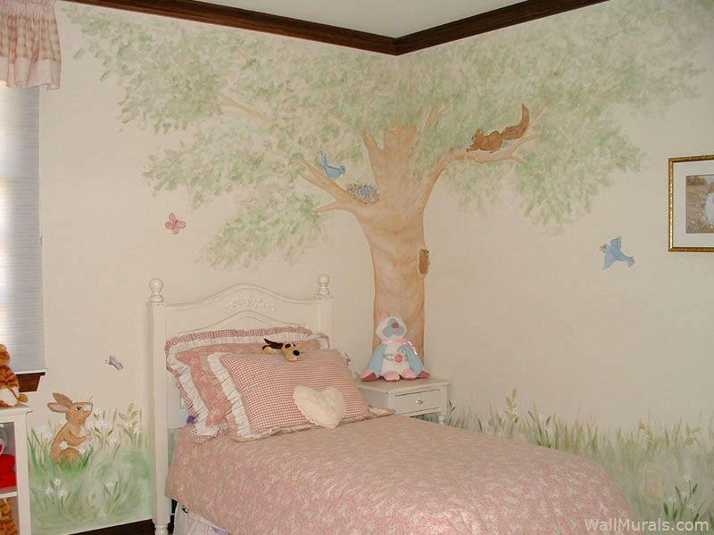 Girls Room Wall Murals Wall Murals For Girls Tree Wall Murals