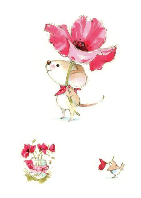 Mikki Butterley - Mouse and poppy.jpg