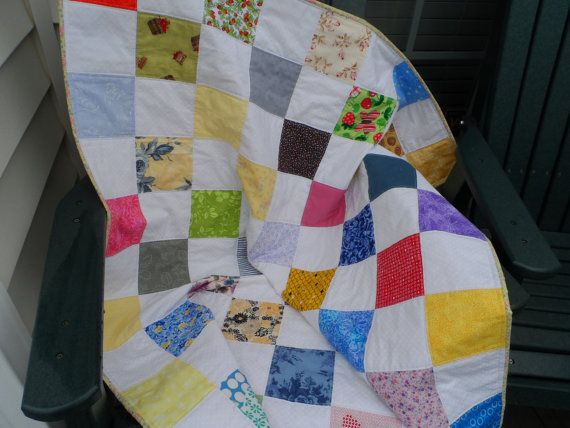 Quilt Baby Quilt Patchwork Quilt Crib Quilt  by Nanasewingroom, $75.00