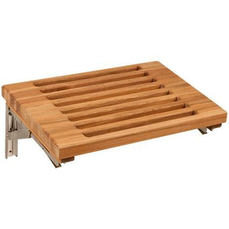 Teakworks4u Wall Mount Fold Down Shower Bench With Slots Teak