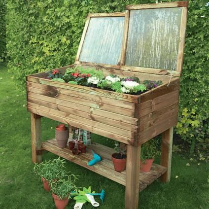 carr potager avec serre sur pieds solid 39 keukenhof 39 brico mekan pinterest carr potager. Black Bedroom Furniture Sets. Home Design Ideas