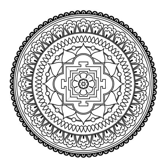 Tibetan Mandala To Color Google Search Abstract Coloring Pages Mandala Coloring Mandala Coloring Books