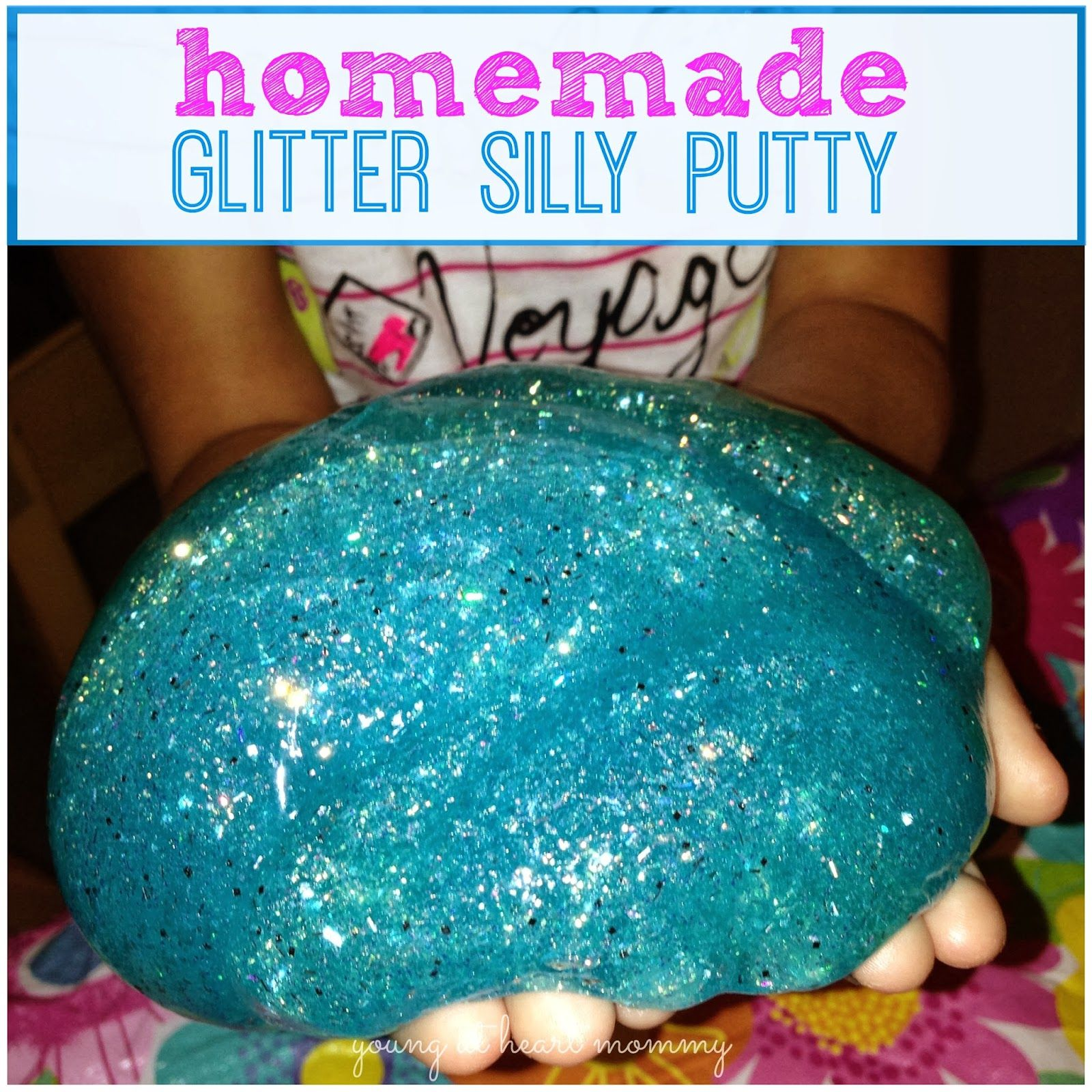 Homemade Glitter Silly Putty Using Elmer S Glue Borax And Water