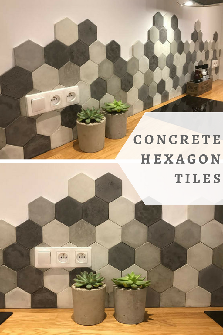Would Love These Concrete Hexagon Tiles Kitchen They Are Just Perfect Unique