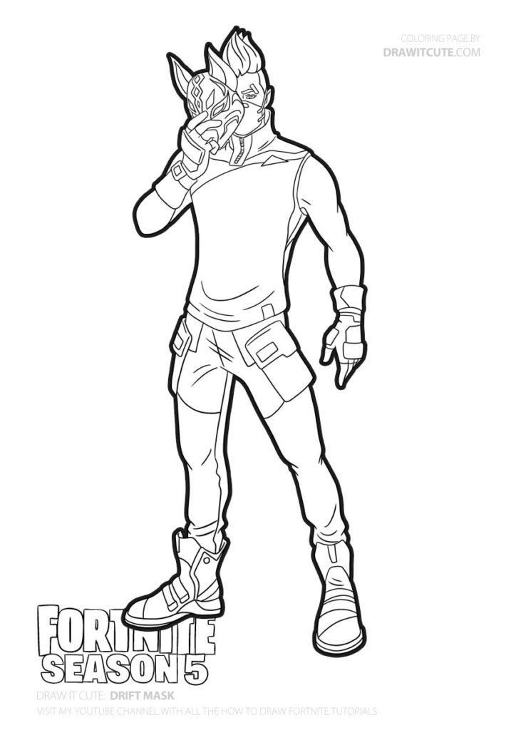 How To Draw Drift With Mask Fortnite Season 5 Tutorial Draw It Cute Fortnite Fortnitebattleroya Cute Coloring Pages Coloring Pages Cartoon Coloring Pages