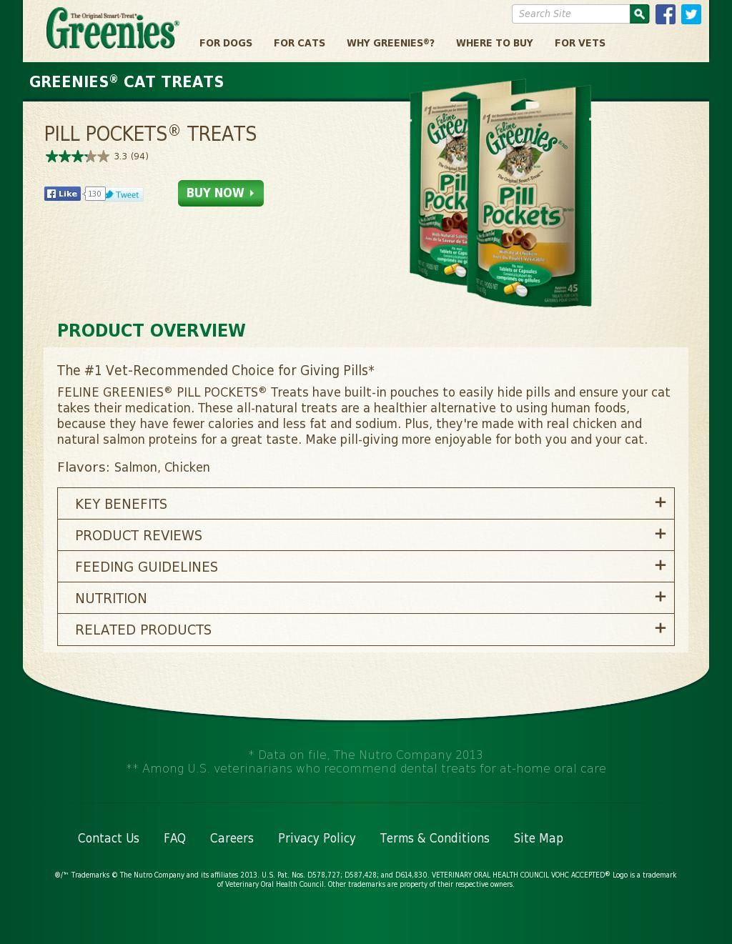 Greenies Feline Pill Pockets Chicken Flavor available in