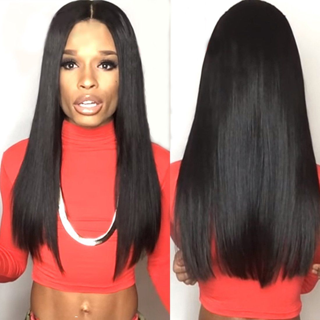 Human Hair Lace Wigs Hair Extensions & Wigs Brazilian Straight Pre Plucked Full Lace Human Hair Wigs Glueless Full Lace Wigs With Baby Hair Natural Hair Remy Wig Fabeauty