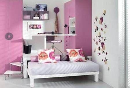 decoracion-de-recamaras-juveniles-pequeñas teenage girl bedroom