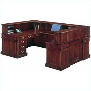 DMi Keswick Right Reception U-Desk by DMi Furniture. $5139.95. The Keswick Collection offers unmatched luxury in a traditional office environment, with it's impeccable English Cherry finish and refine styling. Enough surface space for dual monitors or a laptop Constructed from wood and wood veneers English cherry finish Polyurethane topcoat that protects against discoloration from sunlight Cases feature mortise and tenon construction Tops are constructed of wood and...
