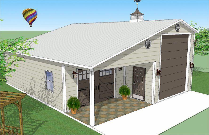 Steel RV garage with truck or boat garage. #rvyardideas