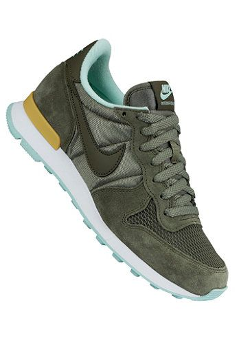 groene nike sneakers internationalist dames
