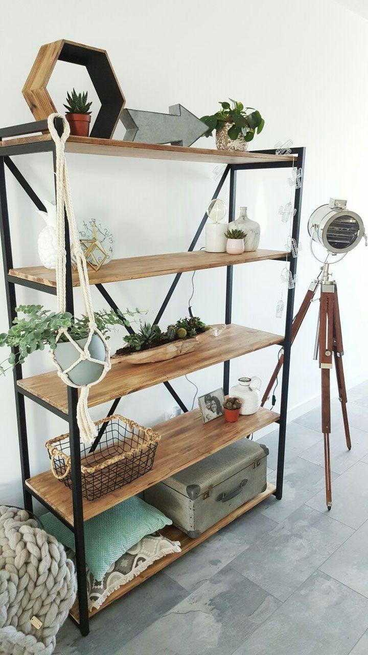 Kast Zwart Staal Met Sloophout Of Old Wood Huis In 2019