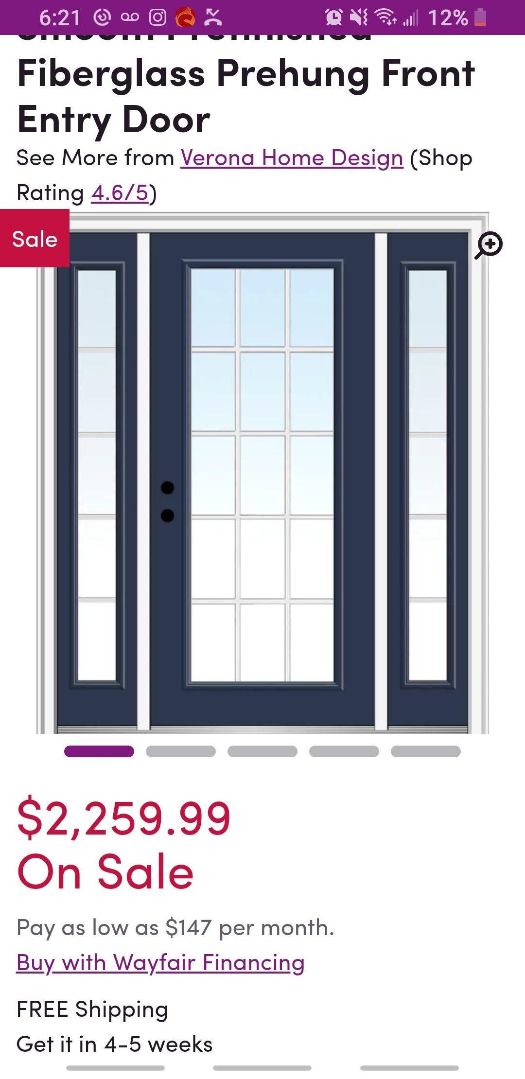 Smooth Prefinished Fiberglass Prehung Front Entry Door Front Entry Doors Entry Doors Modern Exterior Doors