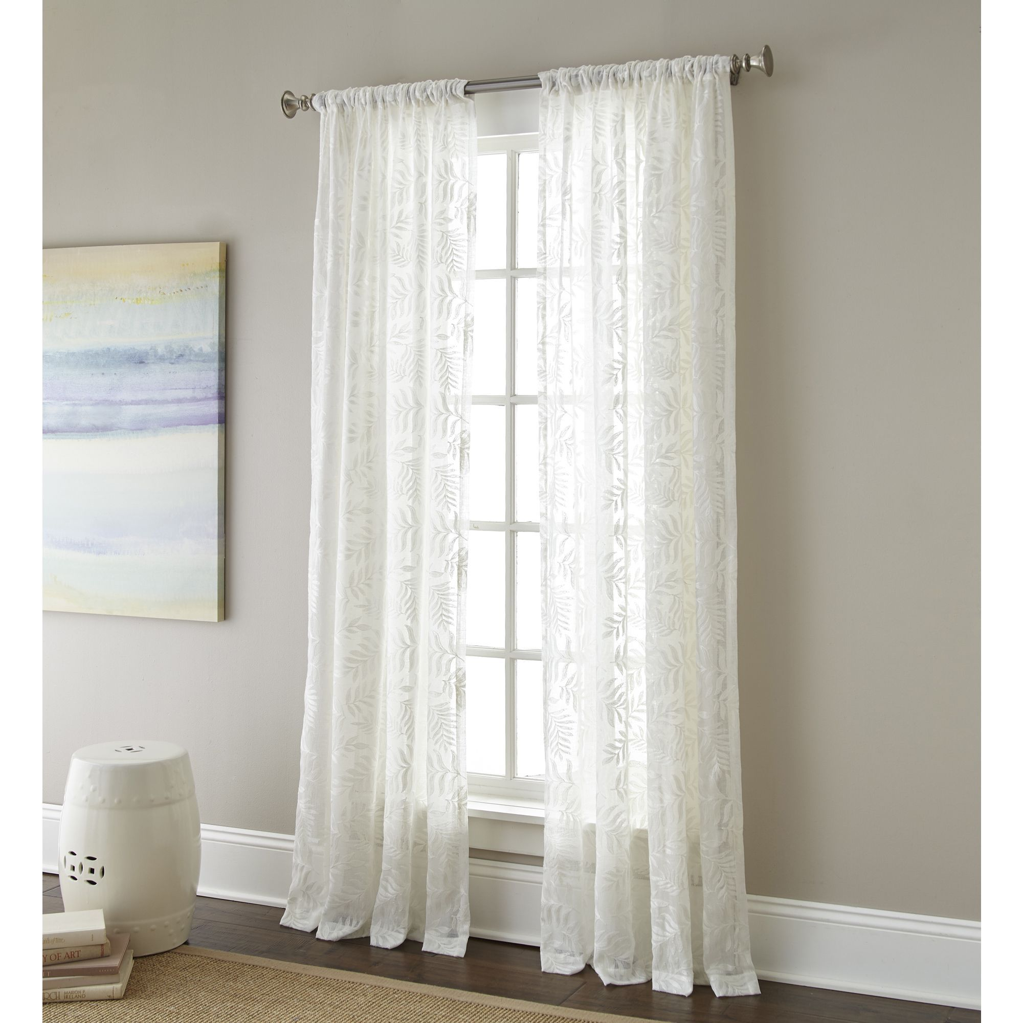 Their 100 Percent Polyester Construction Prevents Wrinkles Stains And Tears To Make These Sheer Embroidered Curtain Panels As Durabl New Great Room Curtains Panel Curtains Sheer Curtain Panels
