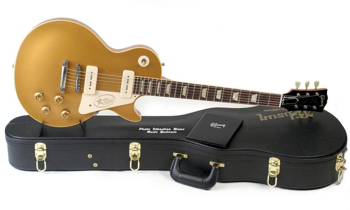 Guitare électrique Gibson Les Paul modèle 1956 Goldtop ...