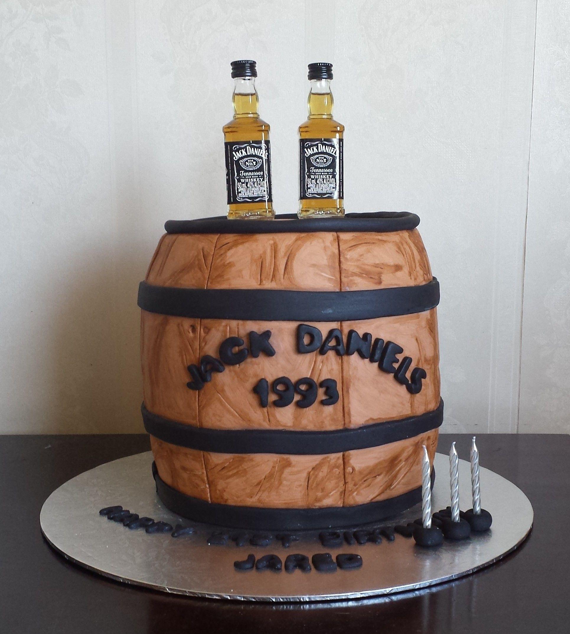 Jack Daniels Barrel Cake Bourbon Birthday Cake Alcohol Cake 21st
