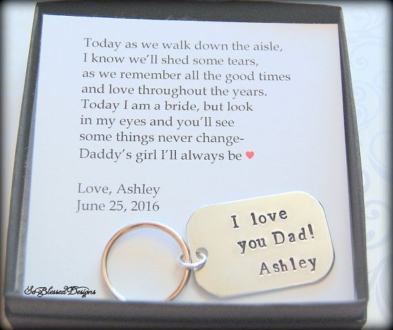 Father of the Bride gift from Bride to Dad on wedding day Father - father of the bride speech examples