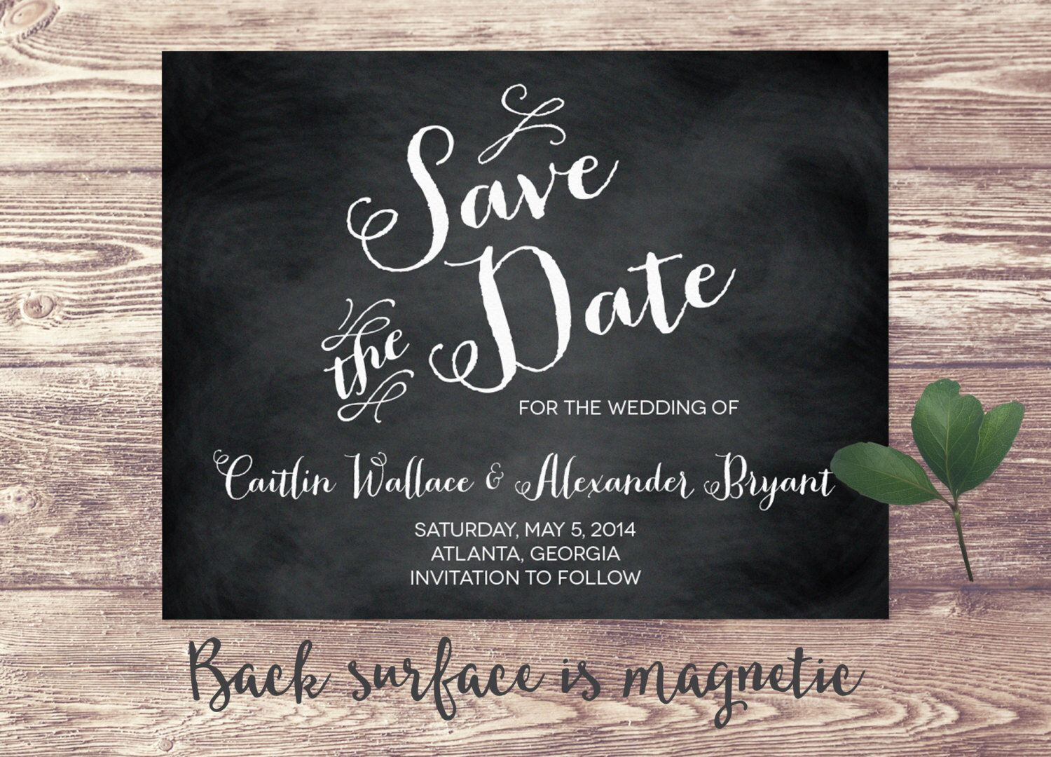 The Atlanta Magnet Save the Date Card