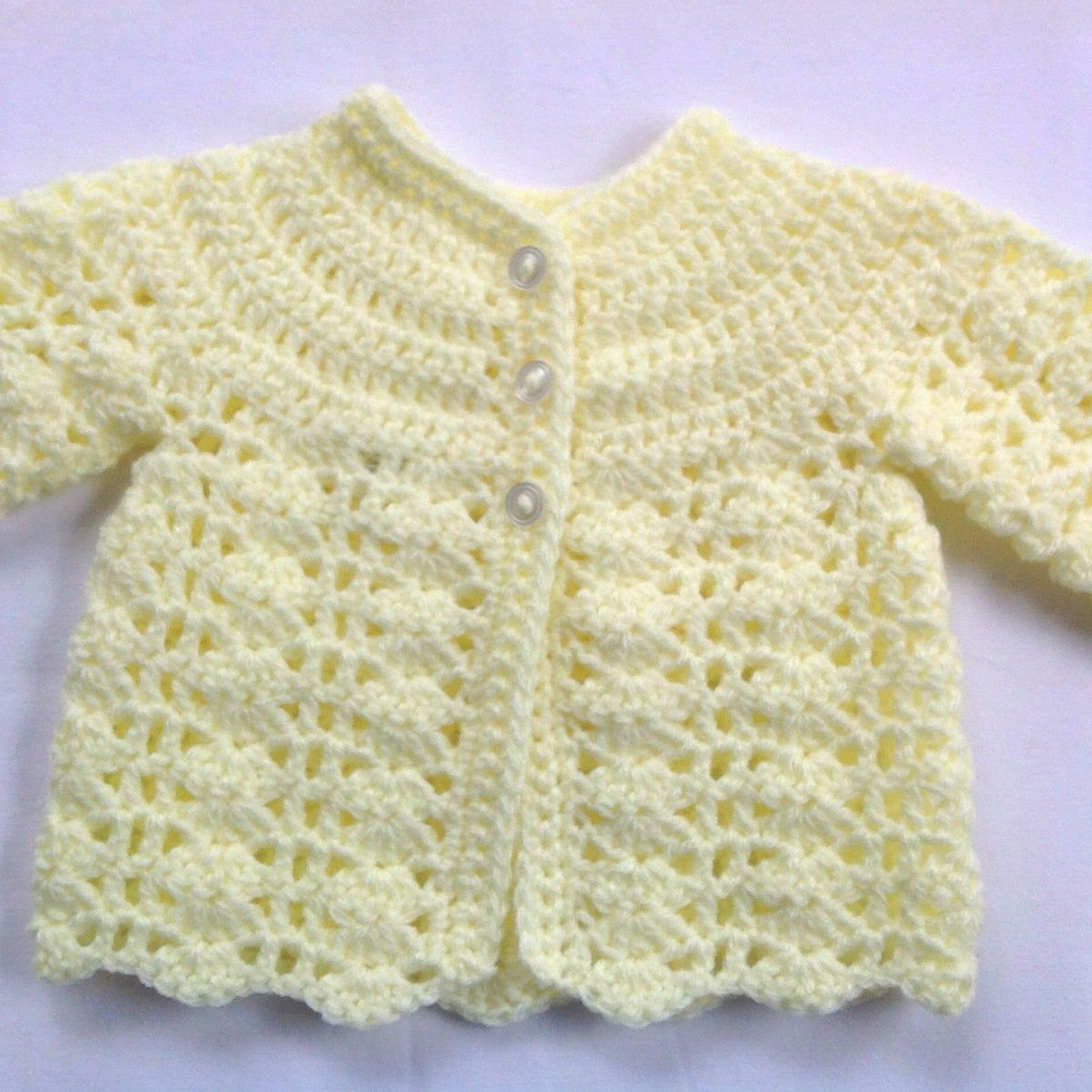 Newborn baby coat and booties set - Yellow baby cr
