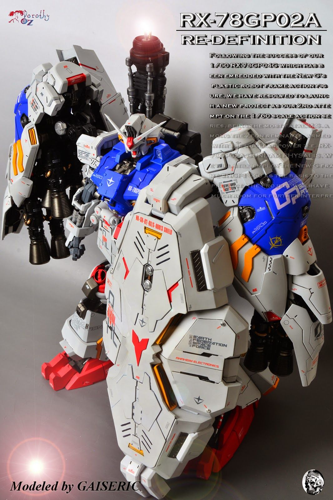 1/60 RX78GP02A Gundam 'Physalis' ReDefinition Painted