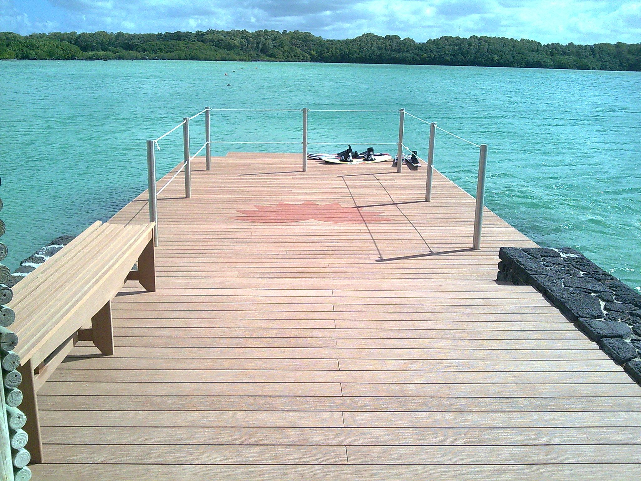 Wood Polymer Composite Decking Wpc Decking Is Made From 60 Recycled Wood And 40 Recycled High Density Polyethylene