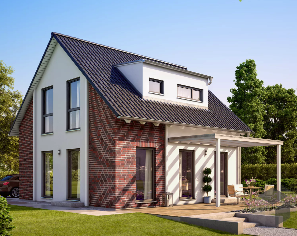 einfamilienhaus solution 106 v3 mit klinkerfassade. Black Bedroom Furniture Sets. Home Design Ideas