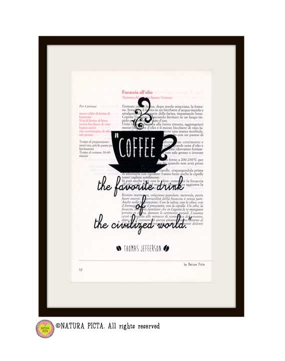 Kitchen Wall Art Coffee the favorite drink by naturapicta on Etsy, $12.99 ©NATURA PICTA