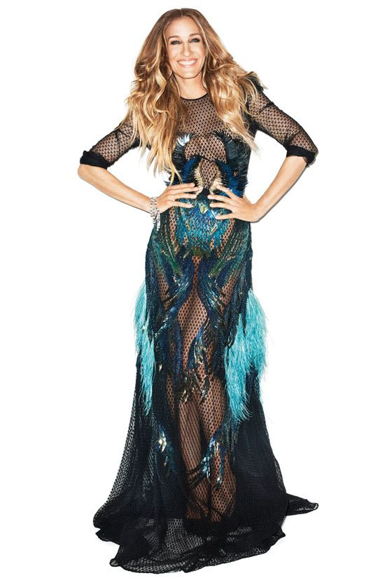 Sarah Jessica Parker in the Gucci winged fish dress