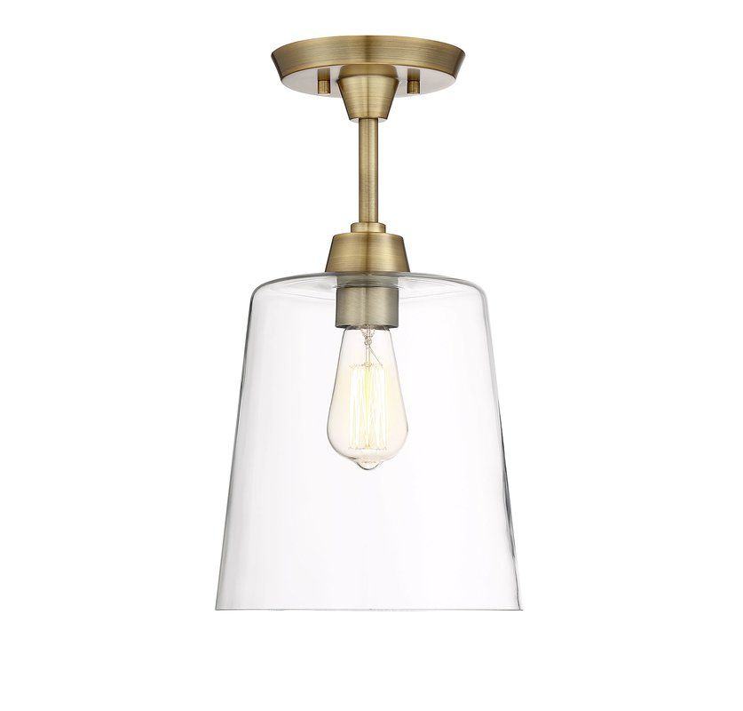 Wakefield 1 Light Semi Flush Mount