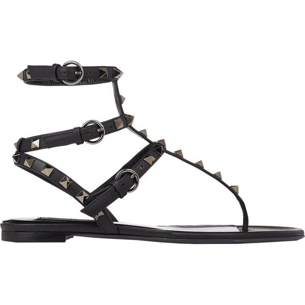 d16d0da728b02 Valentino Women s Rockstud Flat Thong Sandals found on Polyvore featuring  shoes