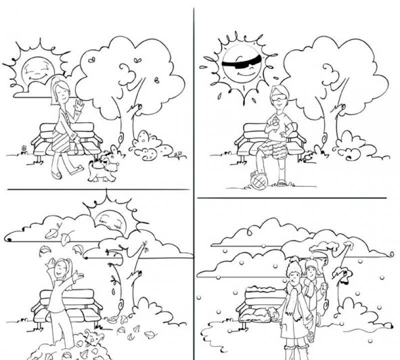 Ausmalbilder Jahreszeiten Jahreszeiten Ausmalen Jahreszeiten Kindergarten