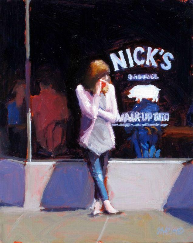 Dan Graziano Waiting At Nicks Art In 2018 Dan Painting Und Art