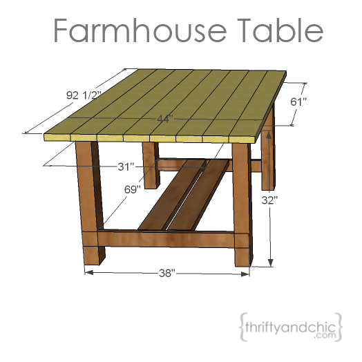 farmhouse table plans from Thrifty and Chic decor. She also has a post on  how