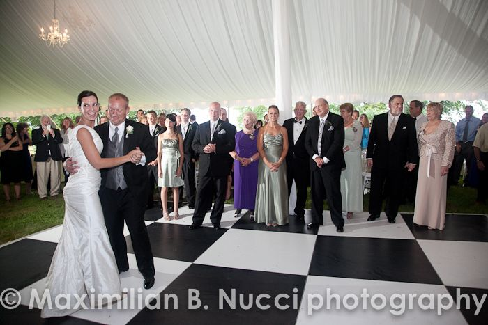 Bride and groom first dance at Mills Mansion.