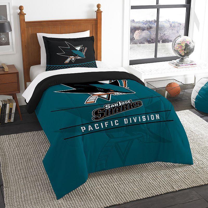San Jose Sharks Draft Twin Comforter Set By Northwest Multicolor
