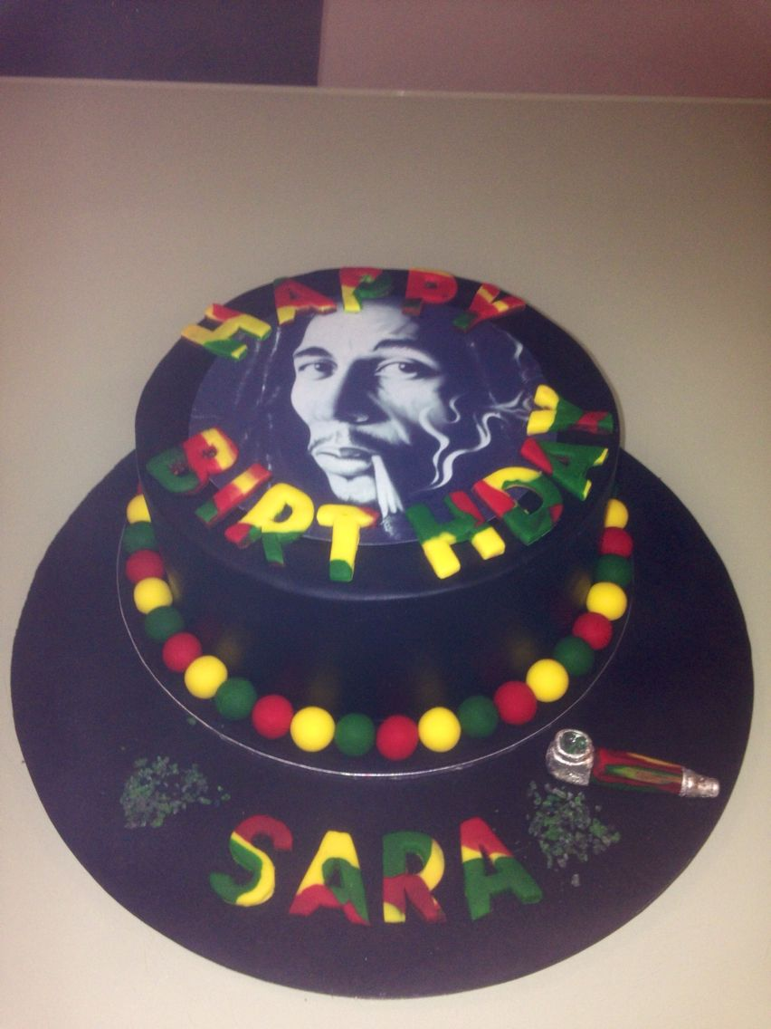 Bob Marley cake BD cakes Pinterest Bob marley cakes Marley
