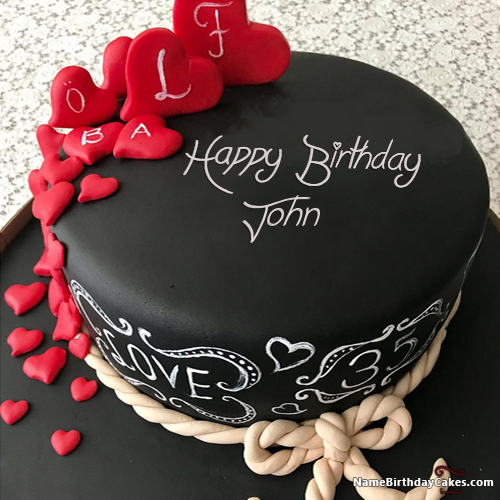 Fabulous Happy Birthday John Video And Images Happy Birthday Cake Personalised Birthday Cards Veneteletsinfo